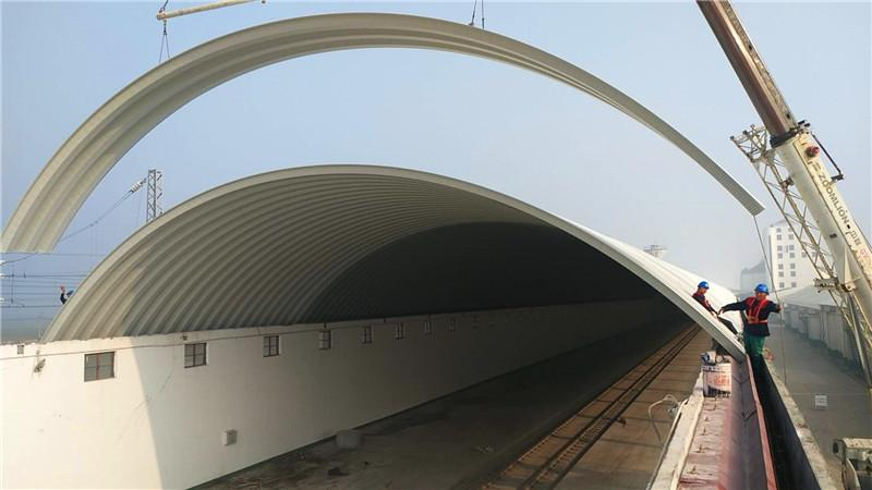 拱形屋顶彩涂板应用方案
