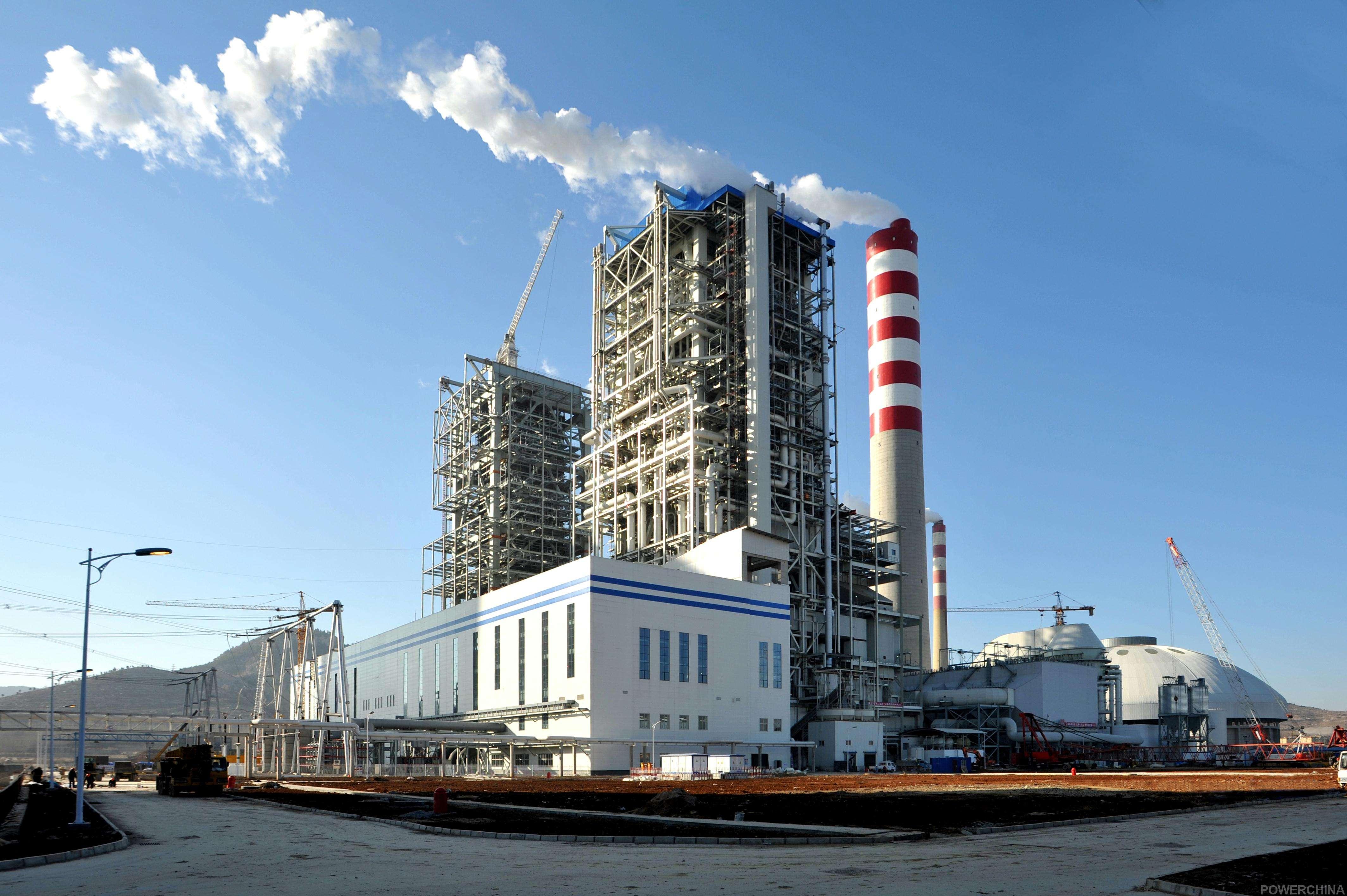 阿米纳高耐候彩涂板应用于山东莱芜电厂