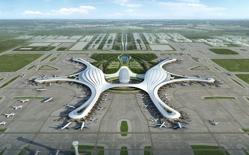 天府国际机场川航基地采用阿米纳40μm高膜厚氟碳彩涂板