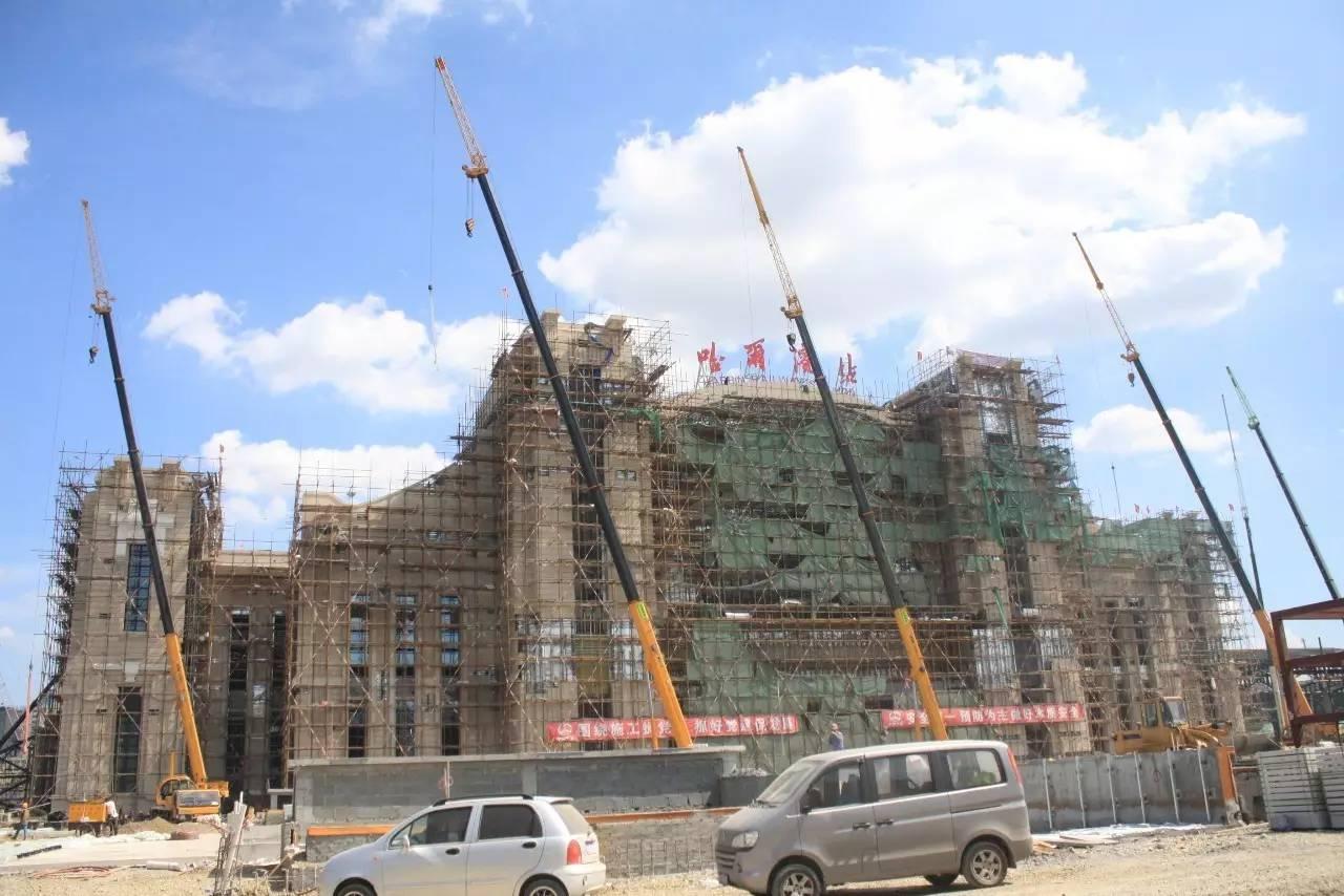 阿米纳氟碳彩涂板应用于哈尔滨火车站改扩建工程2