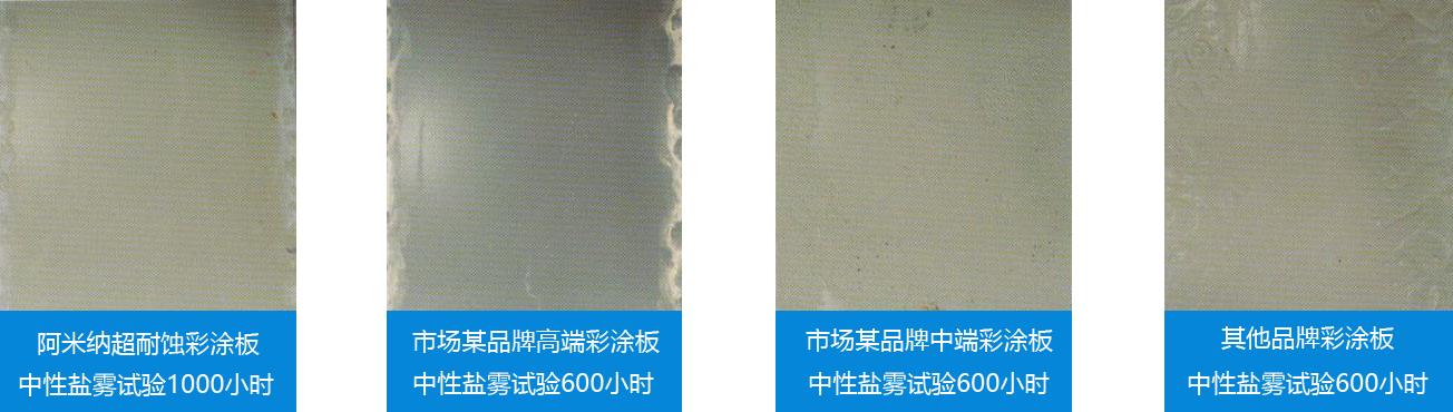 超耐蚀彩涂板中性盐雾试验2