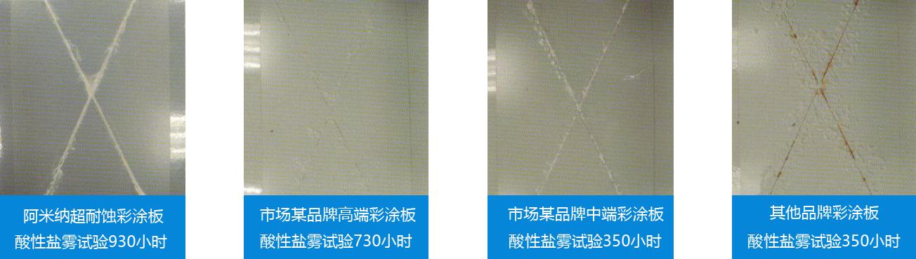 超耐蚀彩涂板酸性盐雾试验1