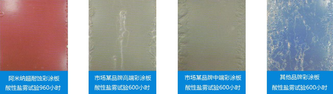 超耐蚀彩涂板酸性盐雾试验2