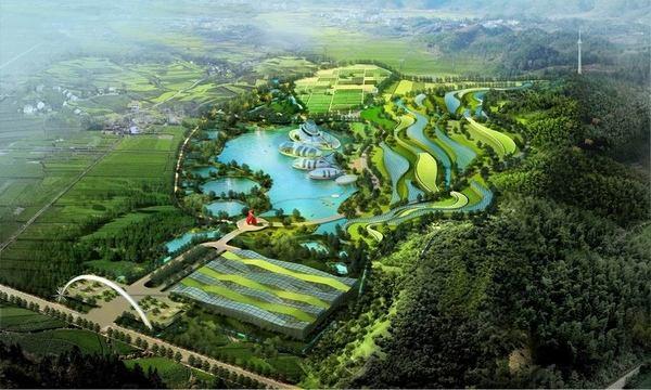 阿米纳彩涂板应用于江西现代农业博览园